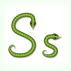 Snake font. Letter S