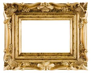 白背景に金色の額縁