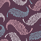 feater-pattern-on-purple poster