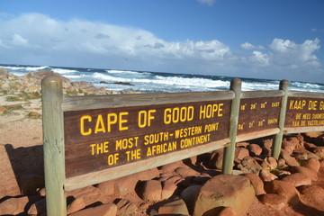Cartello Capo di buona speranza