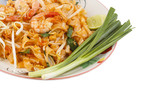 Thai food style , stir-fried rice noodles (Pad Thai)