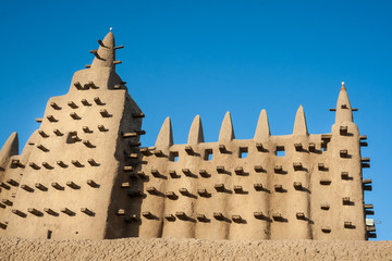 The Great Mosque of Djenné, Mali, Africa.