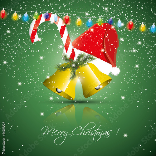 Christmas green greeting card