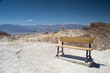 bench in a death valley