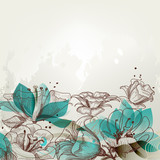 Fototapety Retro floral background