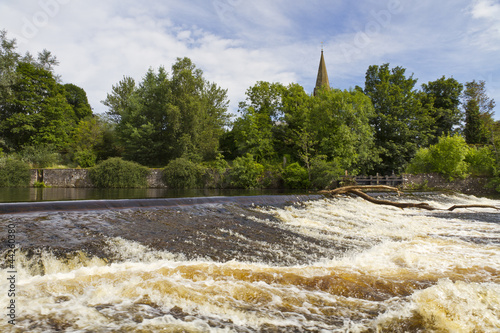 The fast flowing River Ericht at Blairgowrie