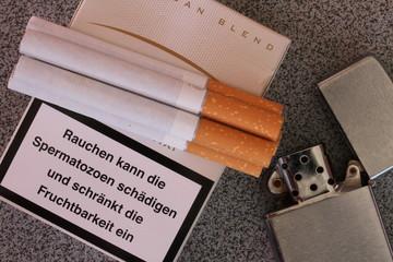 Zigaretten Warnung