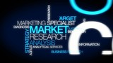 Market Research Analyst Marketing Specialist word tag cloud poster