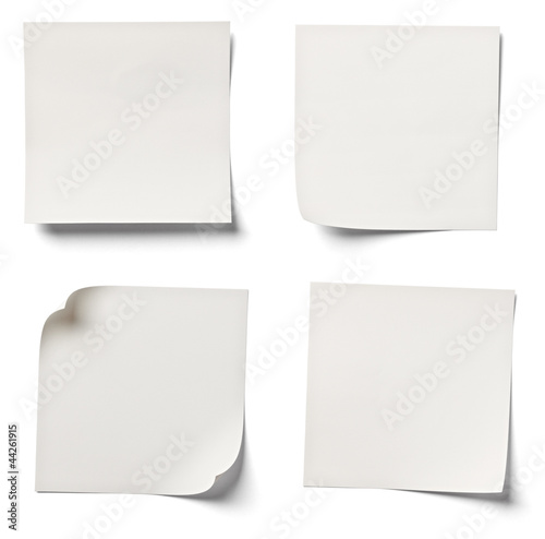 white note paper office business