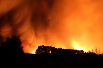 Incendio forestal de Castrocontrigo, en Torneros de Jamuz, León