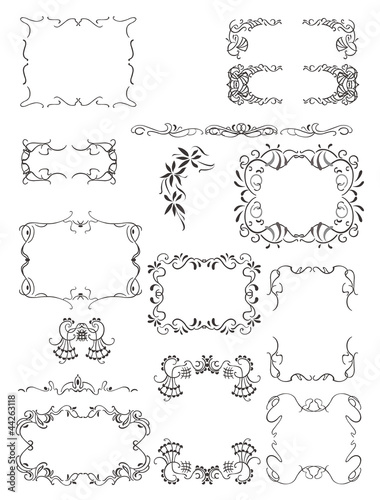 Decorative frames and patterns