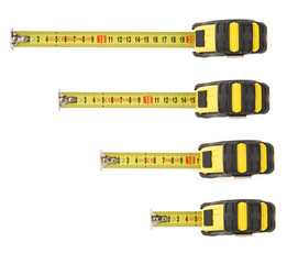 set of tape measure isolated on white