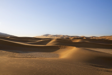 Sunrise in the beautiful sand dunes of the United Arab Emirates