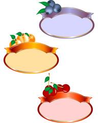 Etichetta ovale confettura frutta
