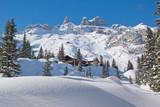Fototapety Winterurlaub in den Bergen