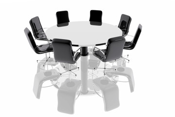 Mesa de reuniones de negocios