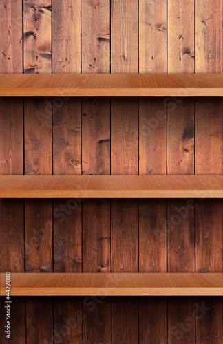 Volume wooden shelf