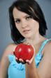 apple in female hand