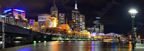 Poster Oceanië Uferpromenade in Melbourne