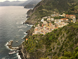 The 13th Century village of Riomaggiore in Cinque Terre, Italy.