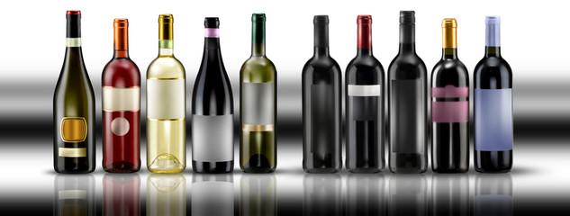 bottiglie su sfondo b/n