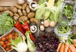 Healthy vegetables abstract background