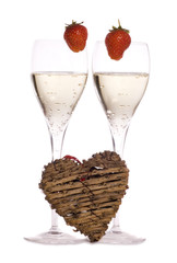 champagne on valentines day studio cutout