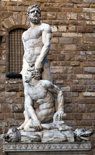 Hercules and Cacus by Bandinelli  (1533)