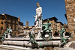 The Fountain of Neptune in Florence, Italy