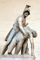 Menelaus supporting the body of Patroclus