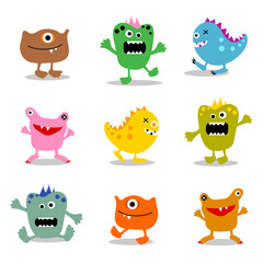 set of cute little monsters 2