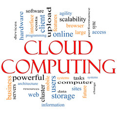 Cloud Computing Word Cloud Concept