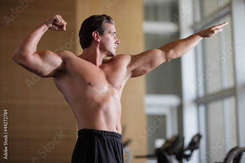 Stock image of a bodybuilder