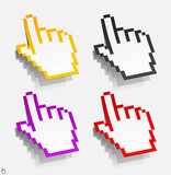 cursor in the form of stickers
