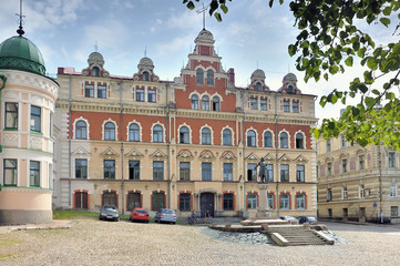 Vyborg. Town Hall Square. Monument Torgils Knutsson