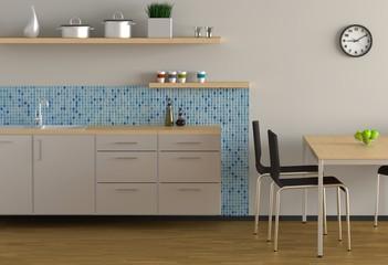 Küche - Blau