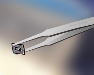 RFID-Chip Pinzette