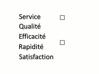 Qualité service satisfaction