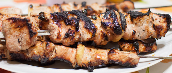 shish kebab on a skewer