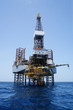 Offshore Jack Up Drilling Rig Over Top of  Production Platform