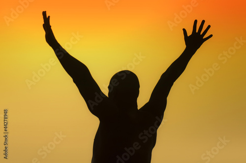 Salutation silhouette