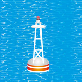 Nautical Buoy. Floating buoy on the Water