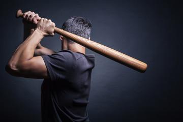 Man swung the bat