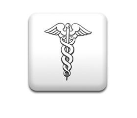 Boton cuadrado blanco simbolo HEALTH