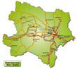 Inselkarte des Kantons Niederösterreich mit Autobahnen
