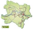 Verkehrskarte des Kantons Niederösterreich