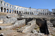Roman amphitheater, colosseum in Pula, Croatia