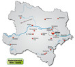 Landkarte des Kantons Niederösterreich