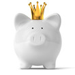 Piggy Bank with Gold Crown