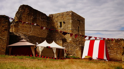 Medieval fortress ready for celebrations